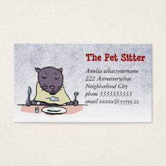 the hungry cat (pet sitting) business card