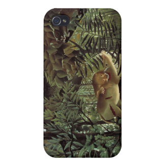 The Hungry Lion - Henri Rousseau iPhone 4/4S Cases