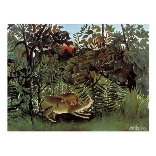 The Hungry Lion - Henri Rousseau Postcard