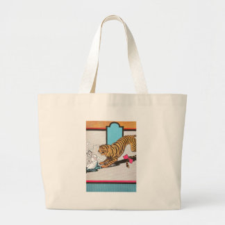 The Hungry Tiger of Oz Large Tote Bag