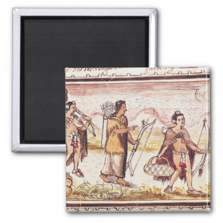 The Hunt, 1579 2 Inch Square Magnet