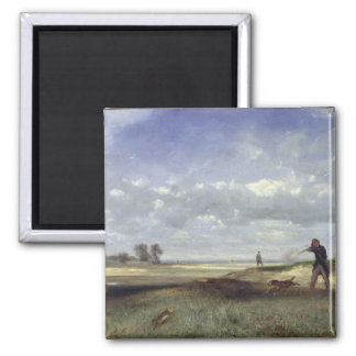 The Hunt, 1847 2 Inch Square Magnet