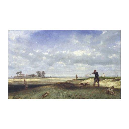 The Hunt, 1847 Canvas Print