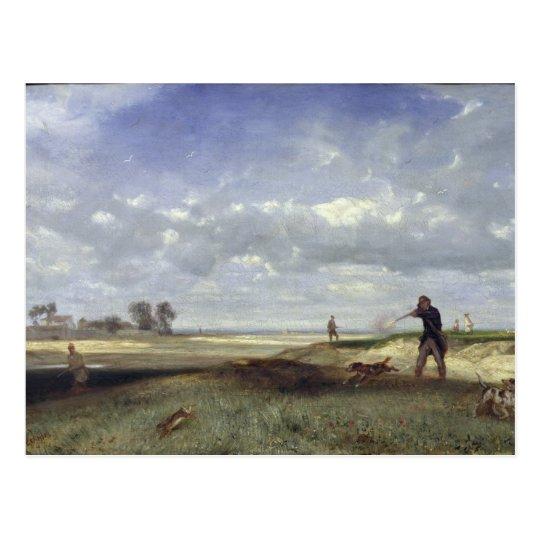 The Hunt, 1847 Postcard