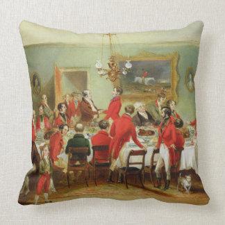 The Hunt Breakfast, Bachelor's Hall, 1836 (oil on Throw Pillow