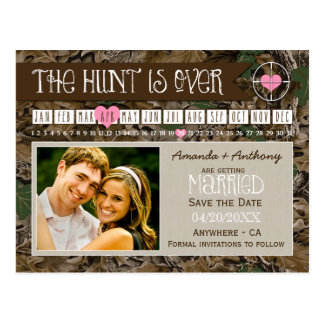 The Hunt Camo Calendar Photo Save The Date Cards