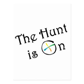 The Hunt Is On Postcard