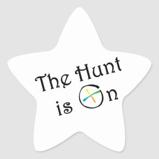 The Hunt Is On Star Sticker