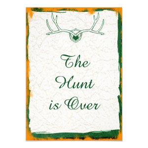 ... The Hunt Is Over Antler Camo Wedding Invitations ...