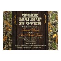 The Hunt Is Over Camo Bridal Shower Invitation (<em>$1.75</em>)