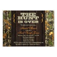 The Hunt Is Over Camo Bridal Shower Invitation (<em>$1.86</em>)
