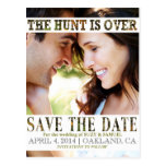 The Hunt is Over Camo Save The Date Announcement Post Cards