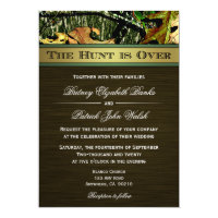 The Hunt is Over Hunting Camo Wedding Invitations (<em>$2.53</em>)