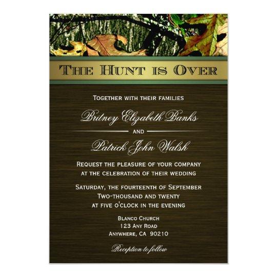 Camo Wedding Invitations To Make: The Hunt Is Over Hunting Camo Wedding Invitations