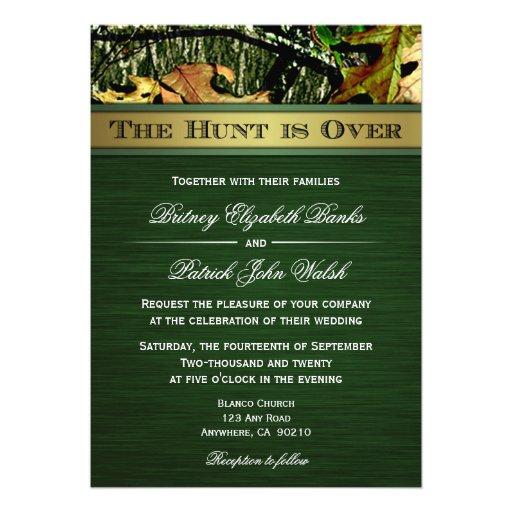 Over Hunting Camo Wedding Invitations 5 X 7 Invitation Card
