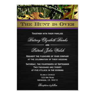 the hunt is over hunting camo wedding invitations - Camouflage Wedding Invitations
