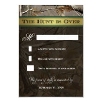 The Hunt is Over Hunting Camo Wedding RSVP Cards 3.5&quot; X 5&quot; Invitation Card (<em>$1.95</em>)