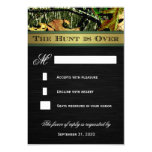 """The Hunt is Over Hunting Camo Wedding RSVP Cards 3.5"""" X 5"""" Invitation Card"""