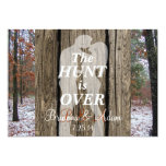 """The Hunt is Over Hunting Theme Wedding Invite 5"""" X 7"""" Invitation Card"""