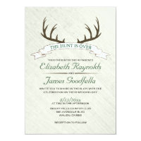 The Hunt is Over Wedding Invitations