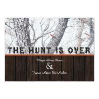 The Hunt Is Over Winter Camo Wedding Invitation (<em>$2.01</em>)