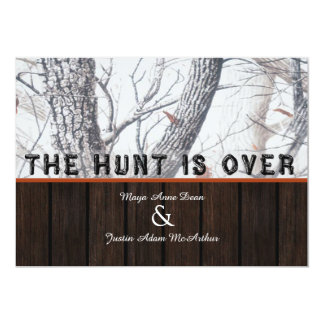 The Hunt Is Over Winter Camo Wedding Invitation