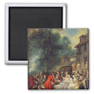 The Hunt Lunch, 1737 2 Inch Square Magnet