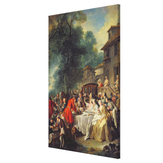The Hunt Lunch, 1737 Canvas Print