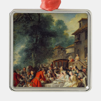 The Hunt Lunch, 1737 Christmas Ornament