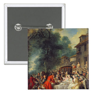 The Hunt Lunch, 1737 Pinback Button