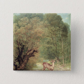 The Hunted Roe-Deer on the alert, Spring, 1867 Button