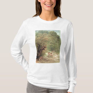 The Hunted Roe-Deer on the alert, Spring, 1867 T-Shirt