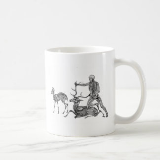 The Hunted - Skeleton Antelope and Stag Classic White Coffee Mug