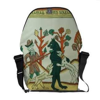 The Hunter and the Boar, Russian, late 18th centur Messenger Bag