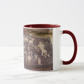 The Hunter rock art panel Mug