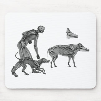 The Hunter - Skeleton Dog With Wild Boar Hunter Mouse Pad