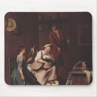 The hunters and the farmers by Pietro Longhi Mouse Pads