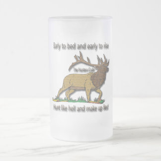 The Hunters Code Frosted Glass Beer Mug