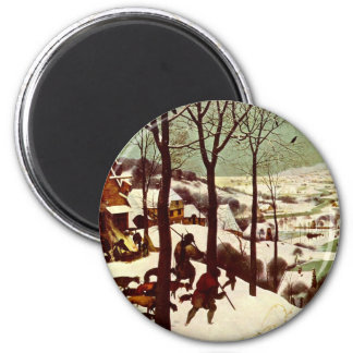 The Hunters in the Snow - 1565 2 Inch Round Magnet