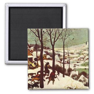 The Hunters in the Snow - 1565 2 Inch Square Magnet