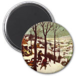 The Hunters in the Snow - 1565 Fridge Magnets