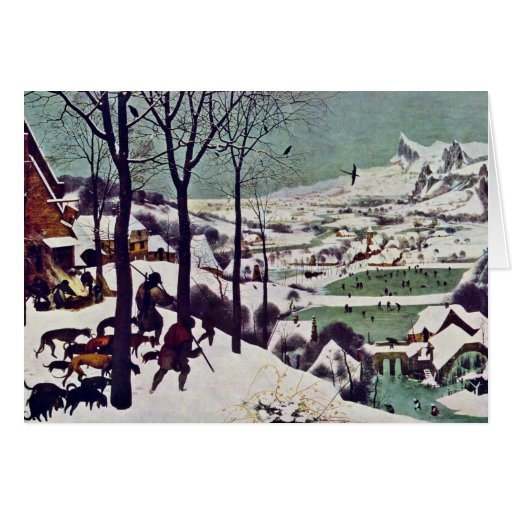 The Hunters In The Snow,  By Bruegel D. Ä. Pieter Card