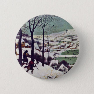 The Hunters In The Snow,  By Bruegel D. Ä. Pieter Pinback Button