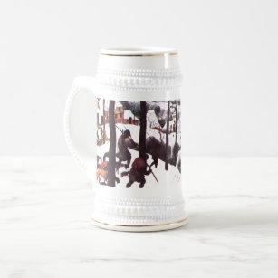The Hunters In The Snow Fine Art Christmas Mug