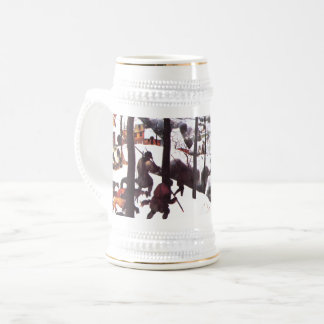 """ The Hunters in the Snow"" Fine Art Christmas Mug"