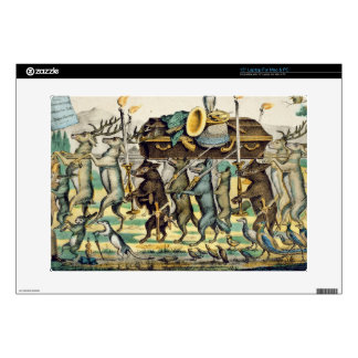 """The Hunter's Procession, c.1850 (hand coloured lit Decal For 15"""" Laptop"""