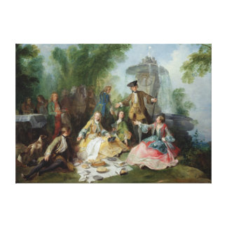 The Hunting Party Meal, c. 1737 Canvas Print