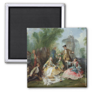 The Hunting Party Meal c 1737 Refrigerator Magnet