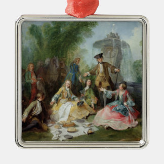 The Hunting Party Meal, c. 1737 Christmas Tree Ornament