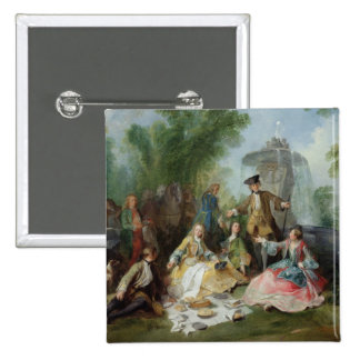 The Hunting Party Meal, c. 1737 Pinback Button